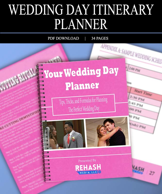Wedding Day Itinerary Planner