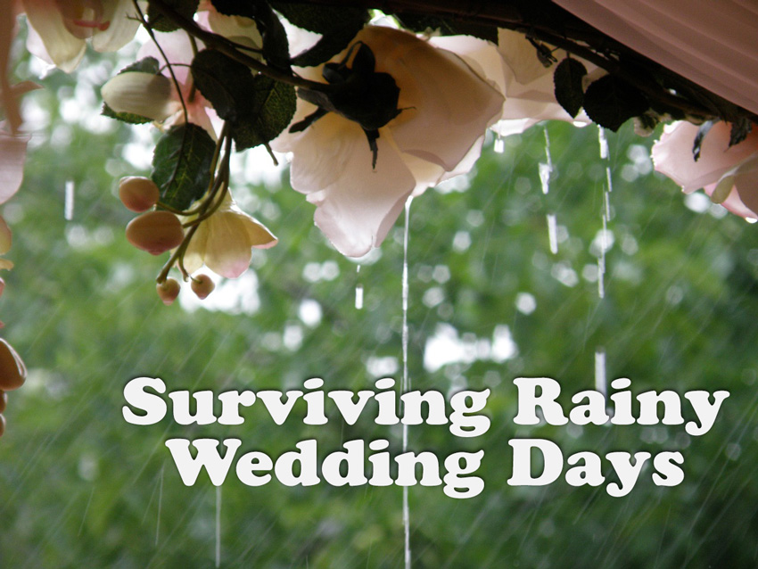 How to Deal With Rainy Wedding Days